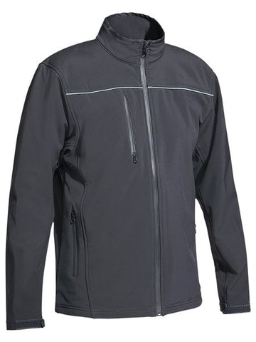 BISLEY MENS SOFT SHELL JACKET BJ6060 - ON THE GO SAFETY & WORKWEAR