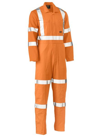BISLEY X Taped Hi Vis Lightweight Drill Rail Coverall BC6316XT