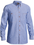 B76407 BISLEY CHAMBRAY SHIRT - LONG SLEEVE - ON THE GO SAFETY & WORKWEAR