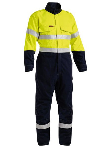 BC8086T BISLEY TENCATE TECASAFE PLUS 700 TAPED TWO TONE HI VIS ENGINEERED FR VENTED COVERALL - ON THE GO SAFETY & WORKWEAR