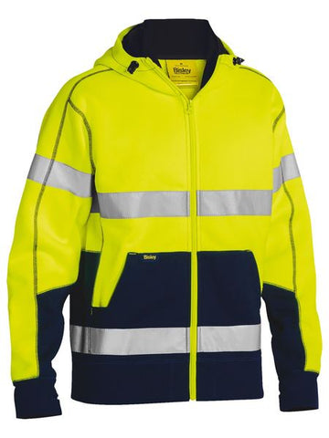 BK6819T BISLEY TAPED HI VIS FLEECE HOODIE - ON THE GO SAFETY & WORKWEAR