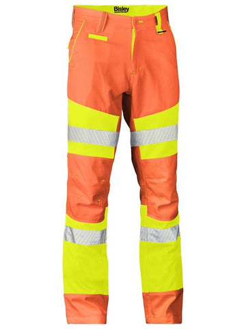 BP6411T BISLEY TAPED BIOMOTION DOUBLE HI VIS PANT - ON THE GO SAFETY & WORKWEAR