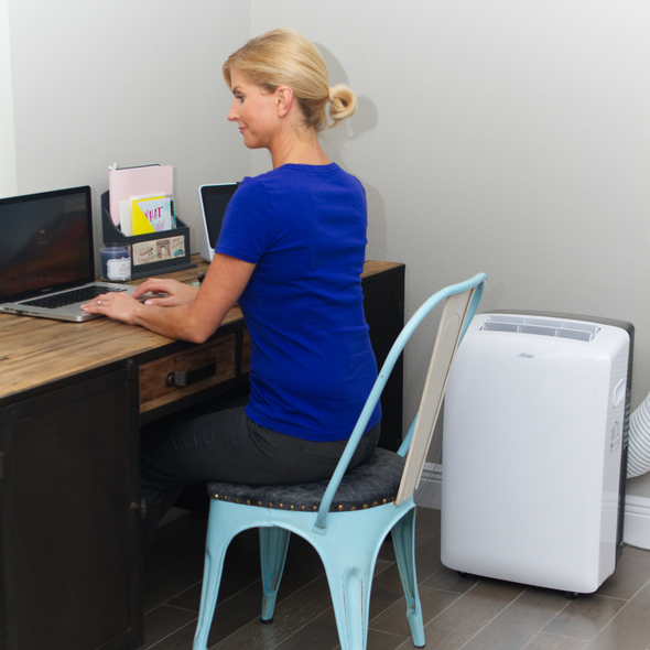 Hunter HPAC-14C150 14,000 BTU Portable Air Conditioner in Office