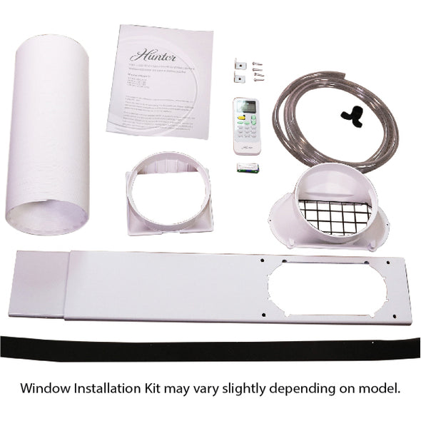 Hunter HPAC-08C150 8,000 BTU Portable Air Conditioner Window Installation Kit