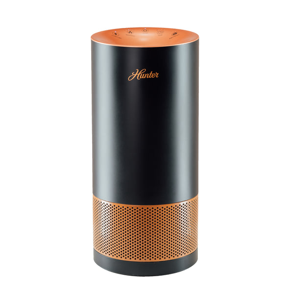 Hunter HP400 Cylindrical Tower Air Purifier, Black and Copper