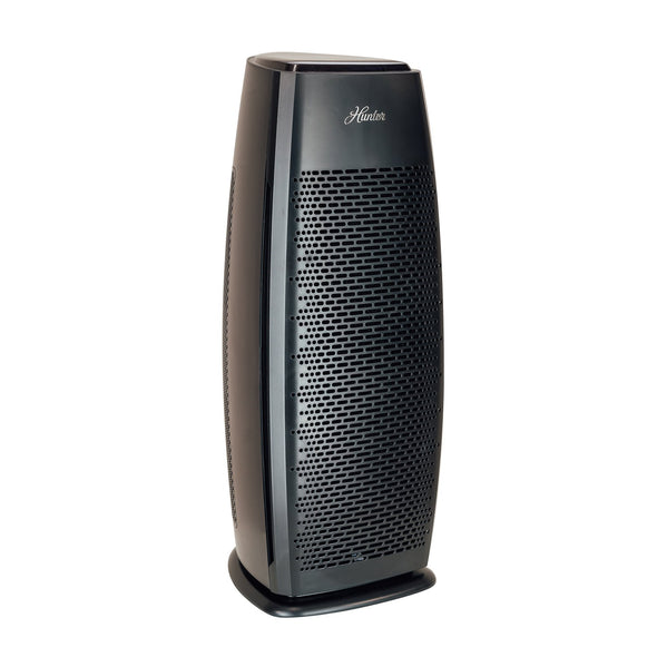 Hunter HP600 Tall Tower Air Purifier, Black, Angle