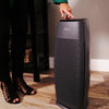 Hunter HP600 Tall Tower Air Purifier, Graphite, Sitting in Living Room