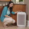 Hunter HP700 Medium Console Air Purifier, White, In Kitchen