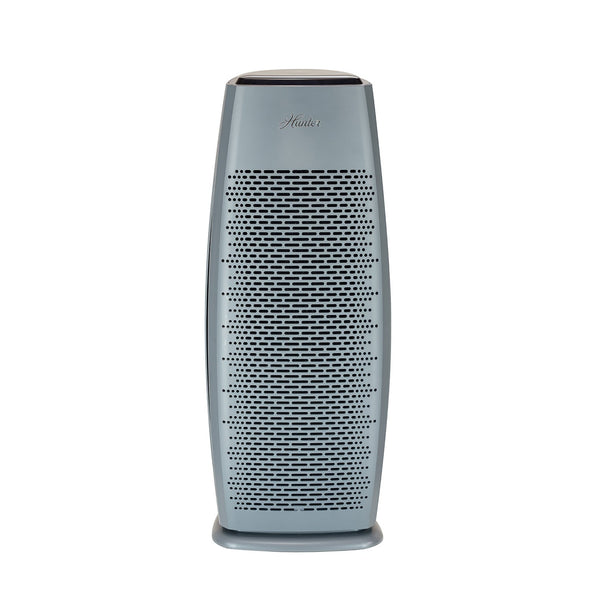 Hunter HP600 Tall Tower Air Purifier, White, Graphite