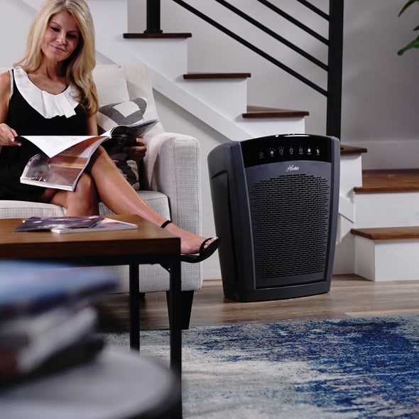 Hunter HP800 Multi-Room Large Console Air Purifier, In Large Living Room