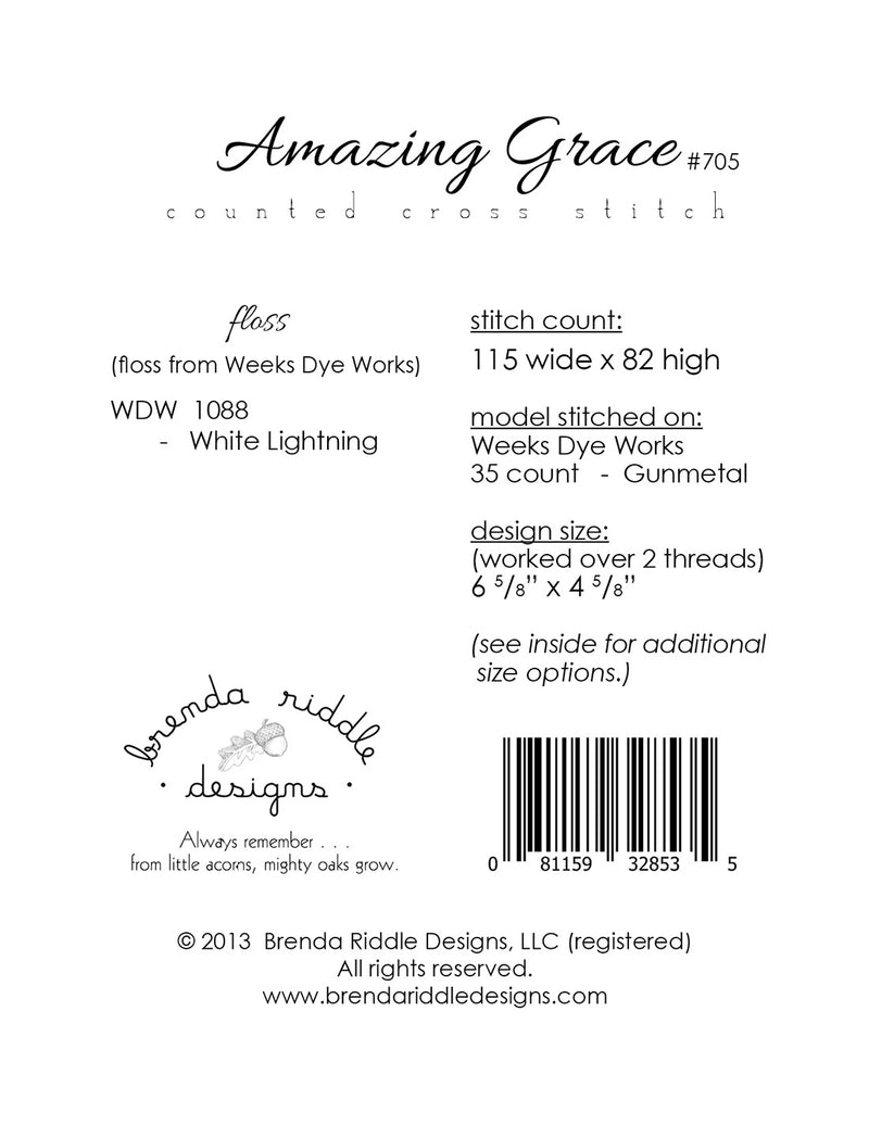 Amazing Grace - paper pattern