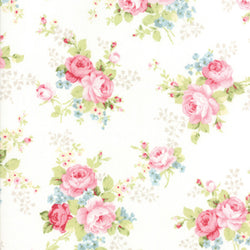 Amberley Main Floral - Linen White