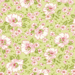 Ambleside Main Floral - willow green