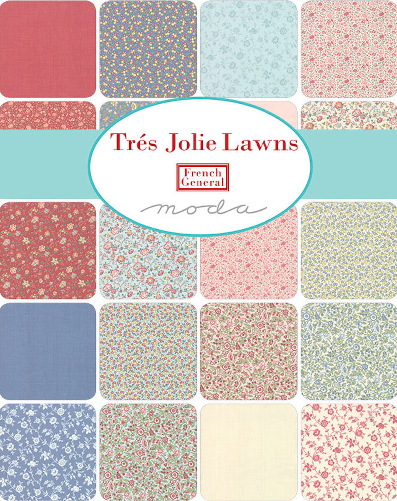 Trés Jolie Lawns  Charm Pack