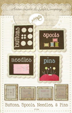 Buttons, Spools, Needles & Pins - PDF pattern