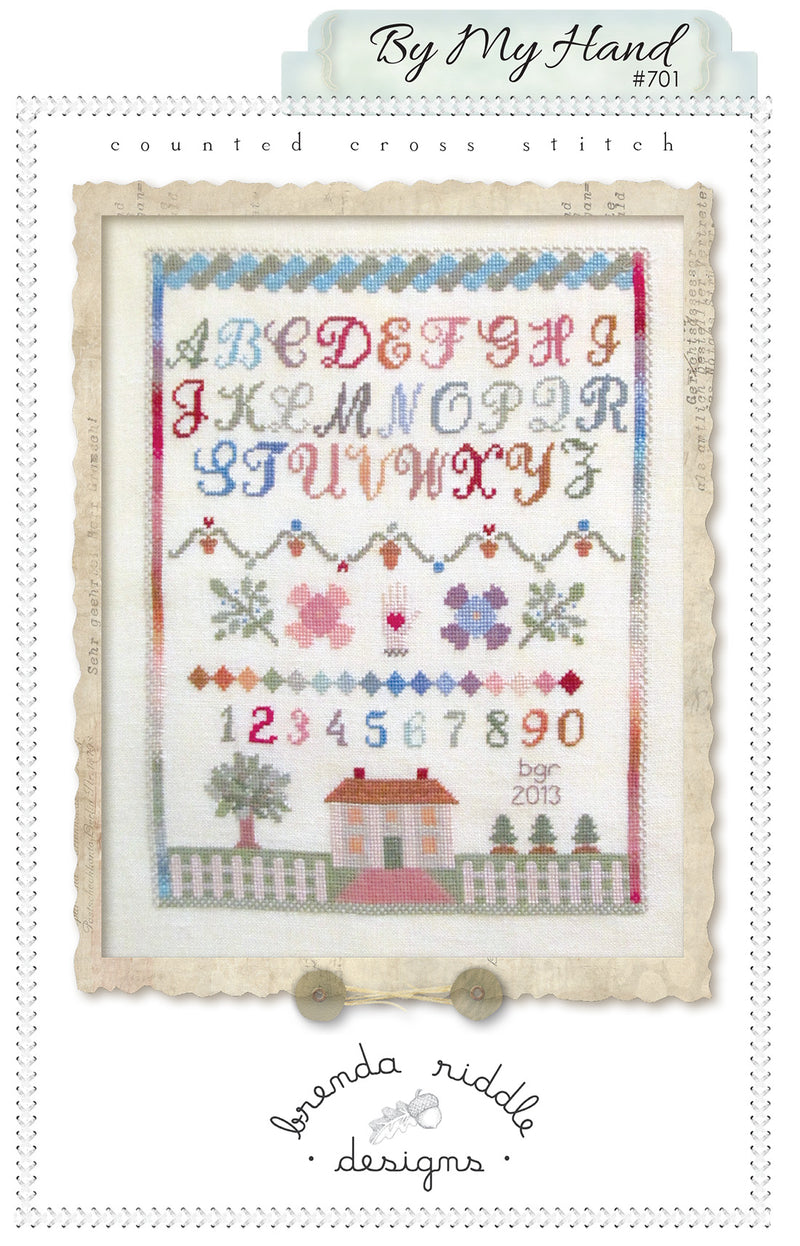 By My Hand (cross-stitch)- paper pattern