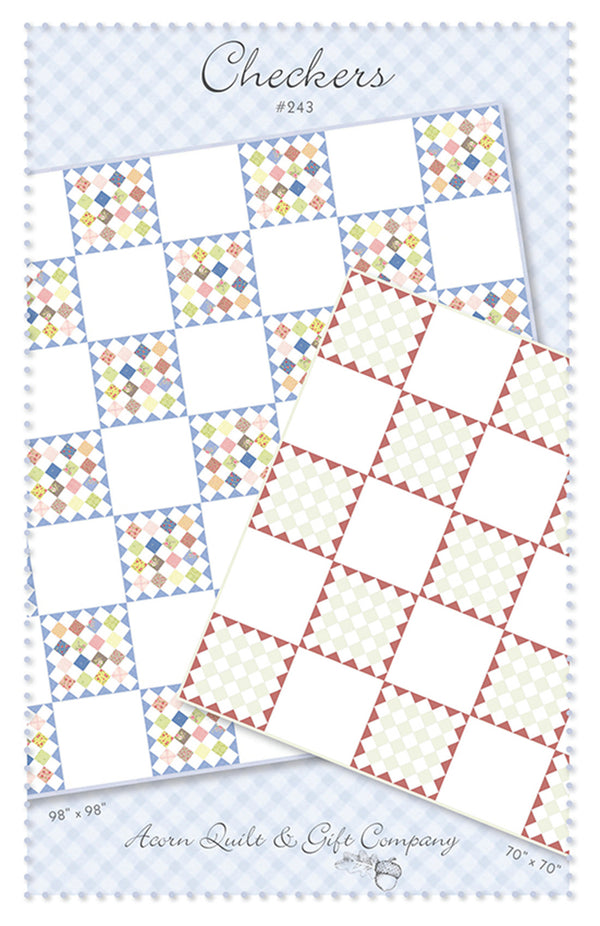 Checkers - paper pattern