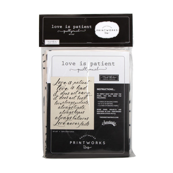 Printworks 'Love is Patient' Quilt Panel