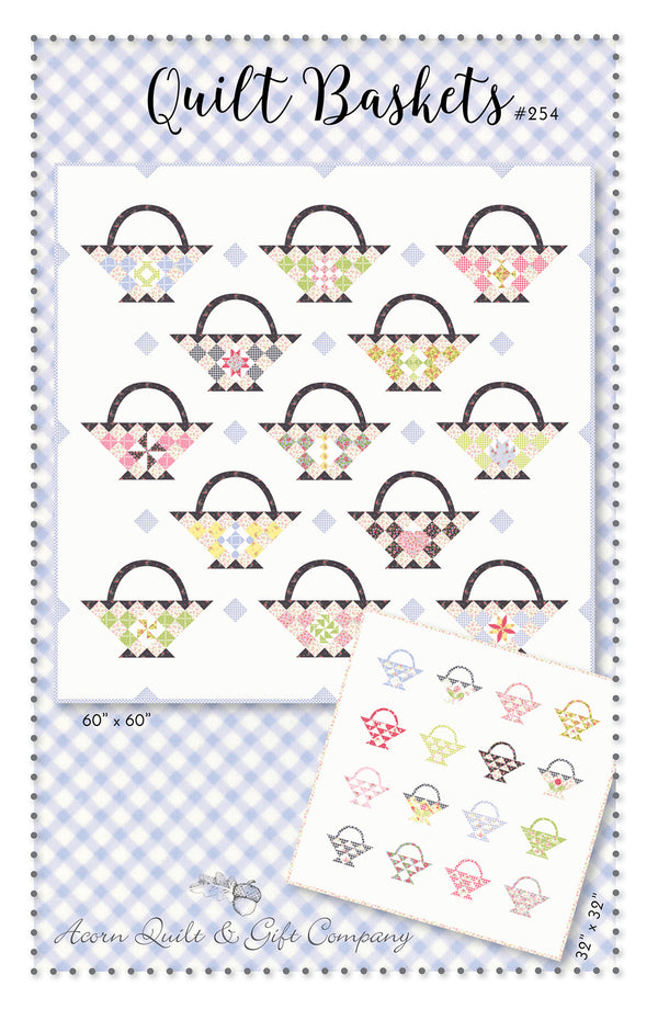 Quilt Baskets - paper pattern