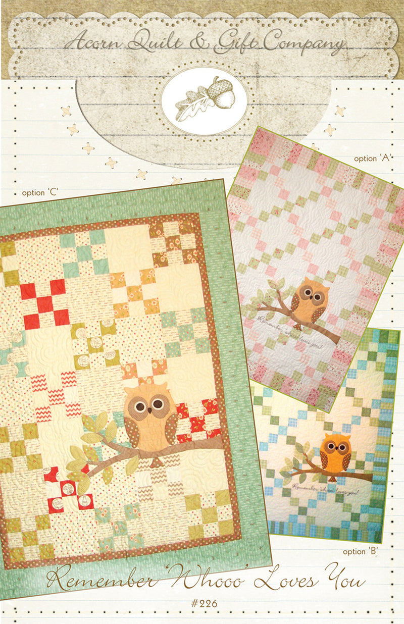 Remember 'Whooo' Loves You - PDF pattern