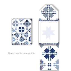 Pocket Notepads - Blue/White