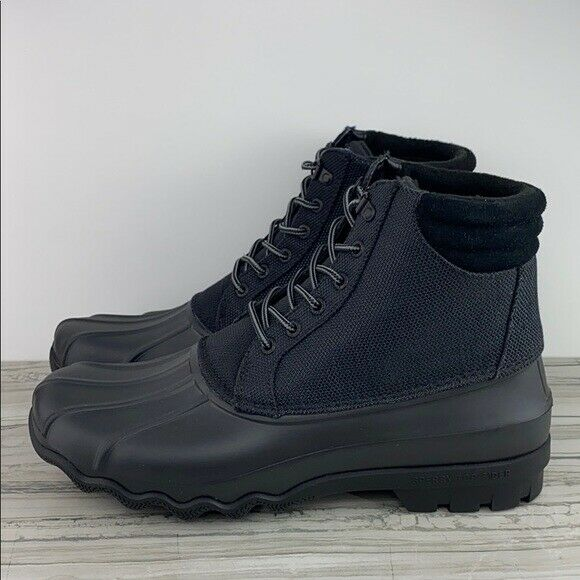 SPERRY BLK AVE DUCK BOOT