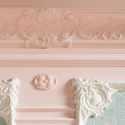 Classic Baroque mouldings by The Library Ladder Company
