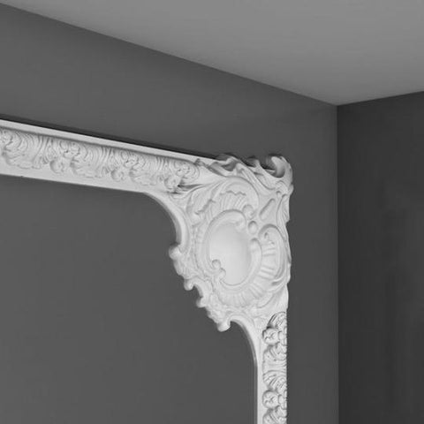Decorative corner moulding from the library ladder company