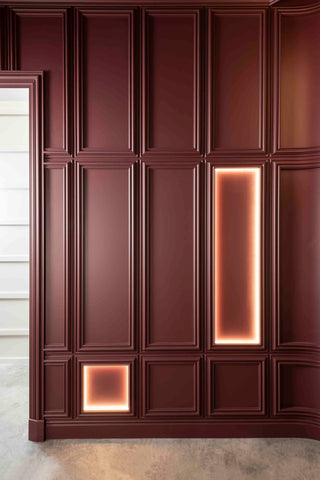 Indirect lighting in Wall panel No. 108