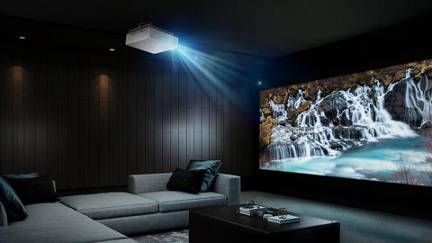 Home cinema room from the library ladder company
