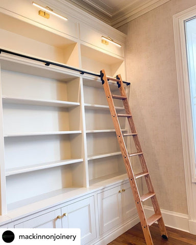 Library Ladders from the library ladder company