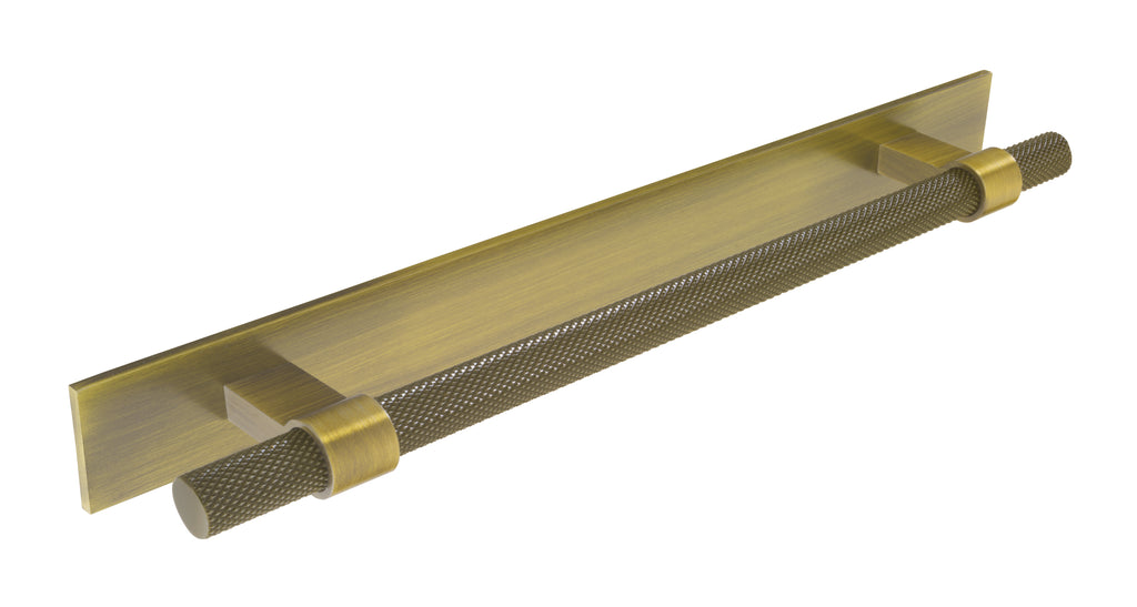Knurled Bar Handle W / Long Plate