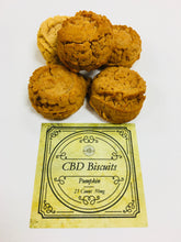 Load image into Gallery viewer, Pumpkin CBD Dog Biscuits
