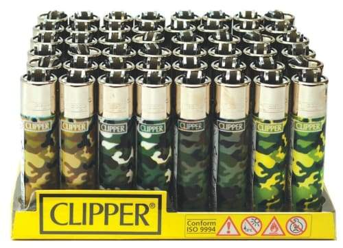Clipper Camo Lighters (48 Count)