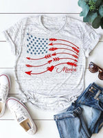 Merica Star And Arrow Printed T-shirts