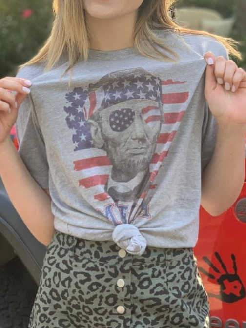 4th of July Lincoln Merica Tee