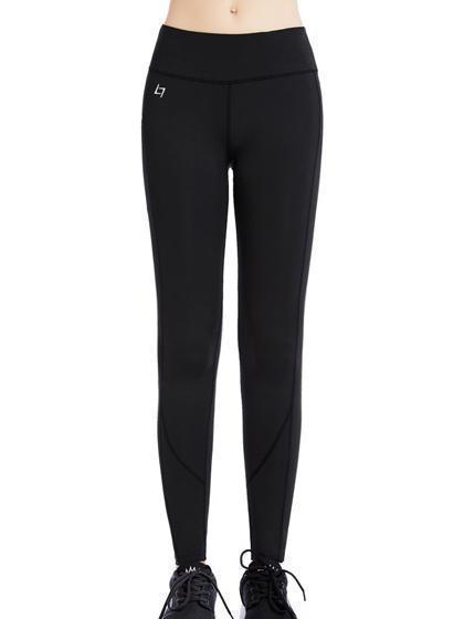 Skinny Yoga Pants With Pockets On Waistband & Sides