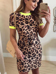 Leopard Slim Ringer Dress