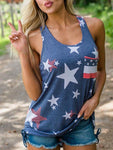 Merica Star Tanks With Pocketed