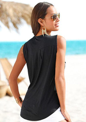Deep V-Neck Sleeveless Tanks-Tanks-vogury.com-vogury.com