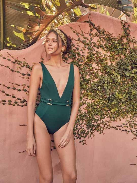 Metal Buckle SexOone-piece Swimwear