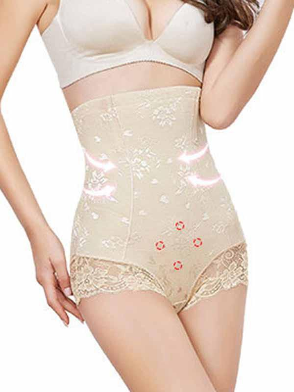 Warm palace high waist belly pants magnetic therapy body shaping pants