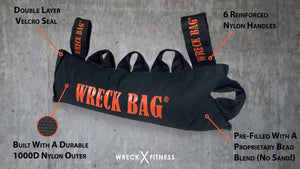 Home Gym Bundle: 25% OFF - Wreck Bag XT, Full Set Of Wreck Bands, Speed Wreck Rope