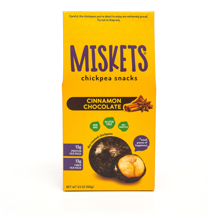 MISKETS Cinnamon Chocolate Dry Roasted Chickpeas