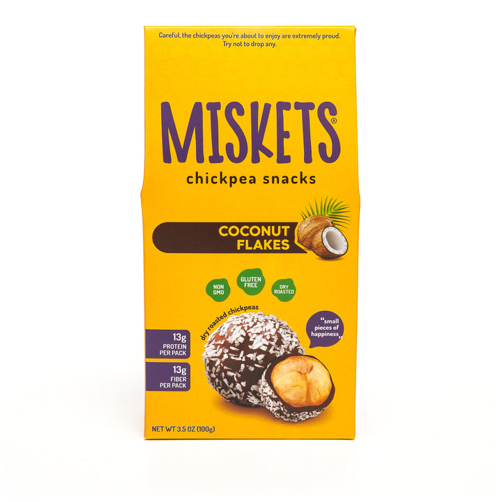 MISKETS Coconut Flakes Chocolate Dry Roasted Chickpeas