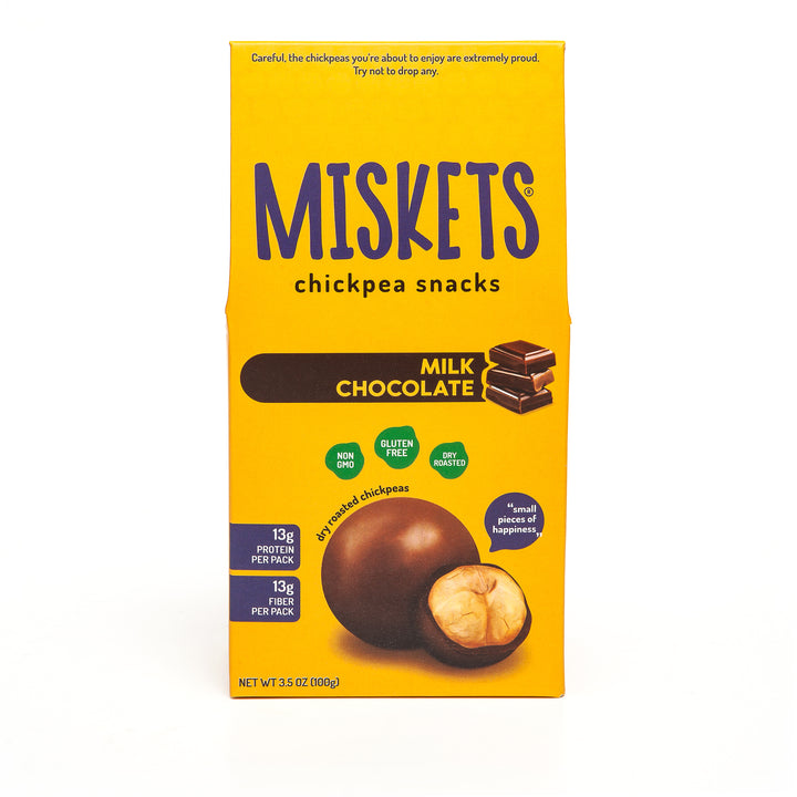 MISKETS Milk Chocolate Dry Roasted Chickpeas