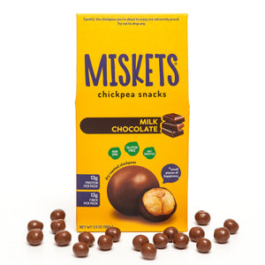 MISKETS Milk Chocolate Dry Roasted Chickpeas Inside