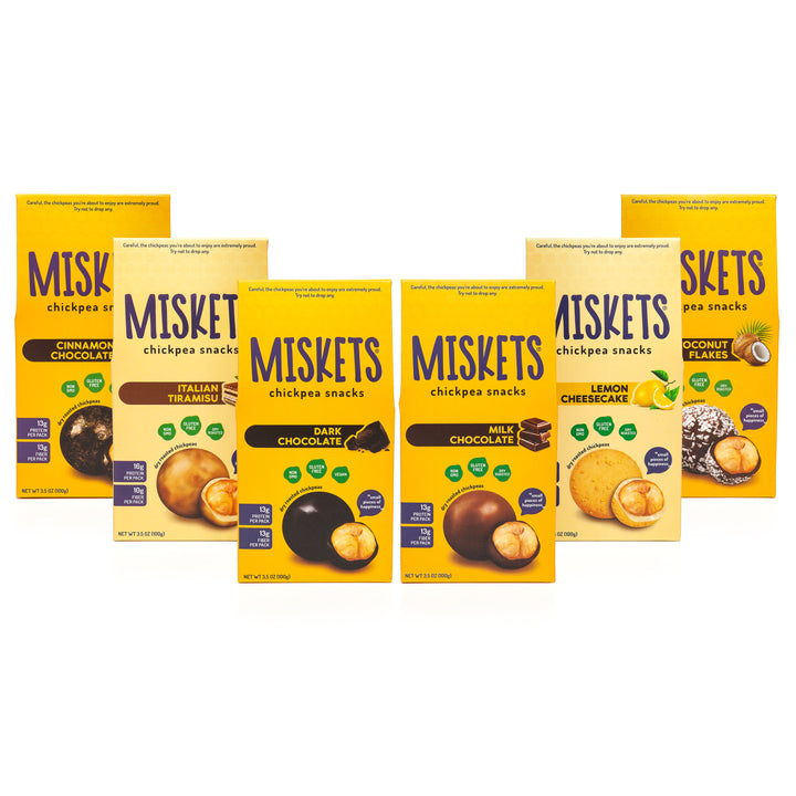 MISKETS Chocolate Dry Roasted Chickpeas Variety Pack