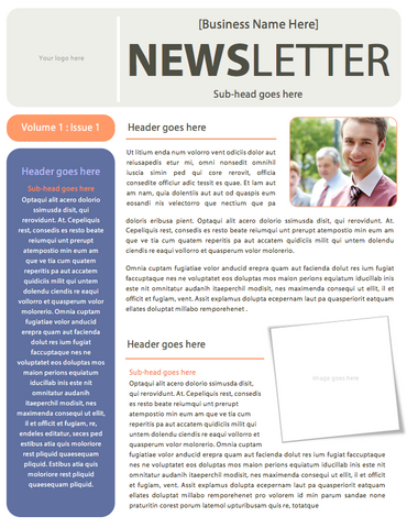 Simple Business Newsletter Template (Microsoft Word File) – DIY ...