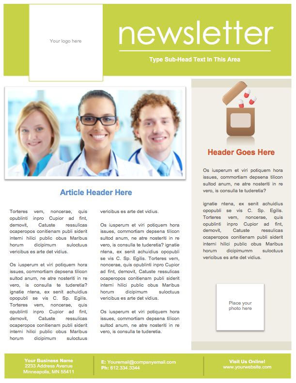 Microsoft Word Newsletters Tagged Pharmacy Newsletter DIY – Word Newsletter Templates